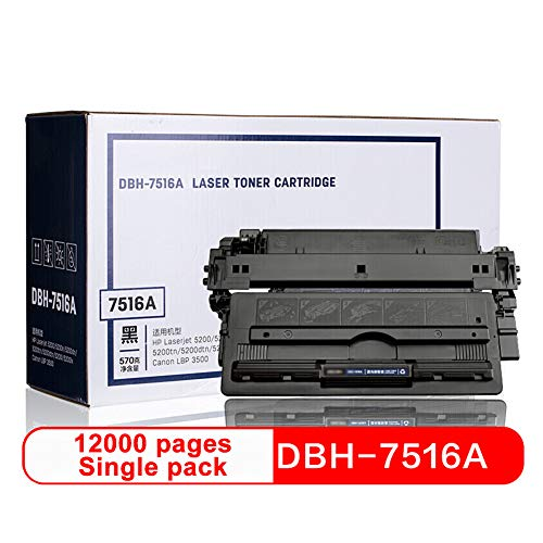 Tamburo Cartuccia Toner Laser per HP 5200 5200n dn TN dtn l LX 3500, Tamburo DBH-7516A Compatibile Cartuccia Toner Sostitutiva-B