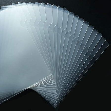 JIKIOU 30 Pack Clear Document Folder Copy Safe Project Pocket L-Type Clear Plastic Folder A4/ Letter Size in Transparent Color