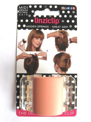 Linziclip Midi The Ultimate Claw Clip Matt Peach