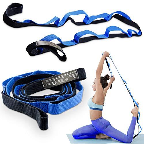 Banda de estiramiento para ejercicios de yoga y baile, cinturón para Pilates, flexibilidad y posos para danza en casa y gimnasio no elástica.