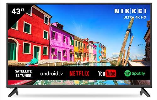 Nikkei NU4318S 109 cm/43 pollici televisore (Smart TV con WiFi integrato, Ultra HD 4K, 3840 x 2160, 3x HDMI)