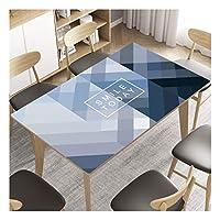 長方形 テーブルクロス ポリ塩化ビニールの防水プロテクター表ソフトガラステーブルマットカバー耐油使い捨てアンチやけど現代のミニマリストのクリスタルのコーヒーテーブルクロス (Color : A, Size : 70*130cm)