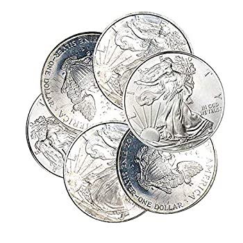 1995-1999 American Silver Eagle Toned Spots 1 Coin $1 Circulated
