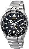 [セイコーウォッチ] 腕時計 プロスペックス メカニカル GMT機能 ランドマスター25周年記念500本 限定チタンモデル ブラック文字盤 SBEJ003 メンズ シルバー