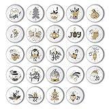 Adventskalender Zahlen Buttons (1-24) zum selber Basteln von DIY-Weihnachts-Kalendern und zum...