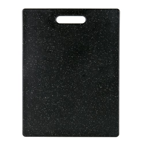 Dexas Superboard Cutting Board with Handle and Non-Slip Feet, 11 by 14.5 inches, Dark Granite Color with Black Non-Slip Corners
