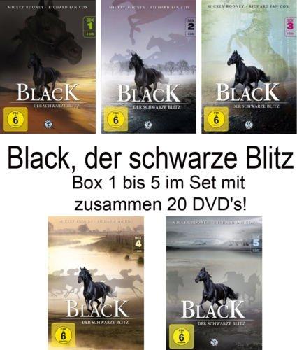 Black, der schwarze Blitz - Box 1-5 im Set - Deutsche Originalware [20 DVDs]