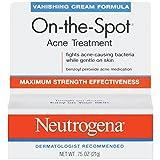 Neutrogena On-The-Spot Acne Spot Treatment with 2.5% Benzoyl Peroxide Acne Treatment Medicine to Treat Face Acne, Gentle Benzoyl Peroxide Pimple Gel for Acne Prone Skin,.75 oz (Pack of 2)