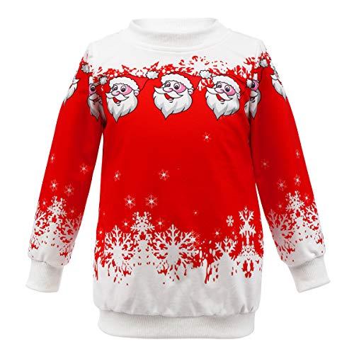 Sudadera de manga larga con capucha para niños, diseño de Papá Noel con estampado de Papá Noel, regalo divertido