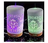 COOSA - Difusor de perfume con forma de piña para aceites esenciales. 4 ajustes de hora y 7 colores diferentes LED., dorado