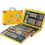 Set de 159 piezas de pintura de acuarela para niños, set de arte de dibujo, lápices de oficina, suministros escolares para niños y jóvenes artistas