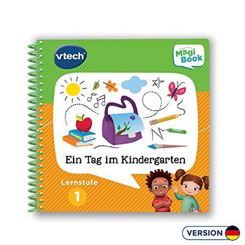 VTech 80-481204 Lernstufe 1 - Ein Tag im Kindergarten MagiBook Lernbücher, Mehrfarbig