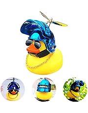 Rubber Eend Helm Speelgoed Leuke Mini Gele Eend Voor Fietsen Auto Decoratie