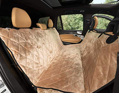 Best Dog Seat Covers for Leather Seats - Plush Paws Waterproof Velvet Pet Seat Cover