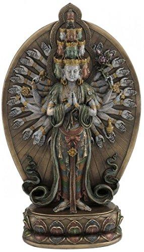 Unbekannt Figur Avalokiteshvara Buddha des Mitgefühls Skulptur Mantra