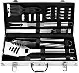 20pcs Set Accessori Barbecue Utensili Barbecue in Acciaio Inox - Attrezzi per...