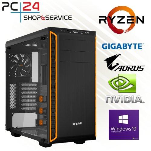 PC24 GAMER PC | AMD Ryzen 7 2700X @8x4,00GHz | 500GB M.2 970 EVO SSD | nVidia GF RTX 2080 mit 8GB...