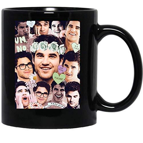 N\A Darren Criss Glee Blaine Anderson Klaine Kurt Hummel Chris Colfer Taza de café Divertida para Mujeres y Hombres Tazas de té ()