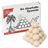 Bartl 102051 Mini-Holz-Puzzle Die rätselhafte Pyramide aus 4 kleinen Holzteilen -