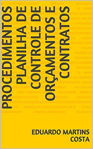 Procedimentos Planilha de Controle de Orçamentos e Contratos