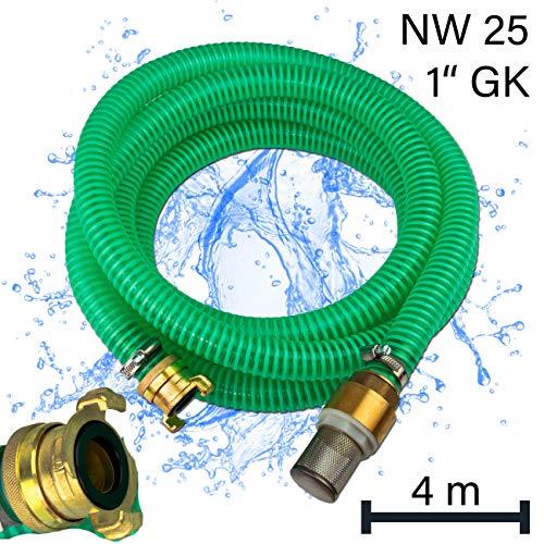 Stabilo-Sanitaer Ansauggarnitur 4m 1 Zoll DN25 25mm Sauggarnitur GK-Kupplung Hauswasserwerk Geka System