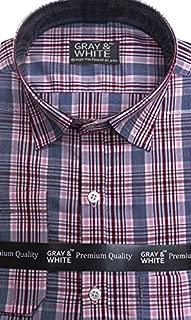 Linger G&W Cotton Checker Shirt Brown or Bronze Tone