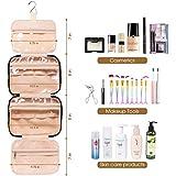 Großer Kulturbeutel zum Aufhängen, Reise-Make-up-Tasche, Kosmetik-Organizer für Damen und Mädchen - 3