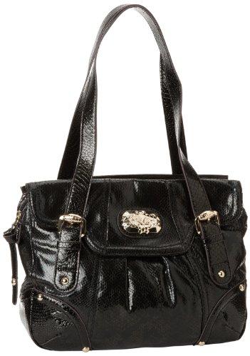 Hot Sale KATHY Van Zeeland Snake Charmer Shoulder Bag,Black,One Size