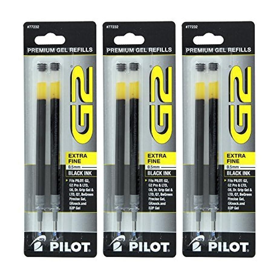 Pilot G2, Dr. Grip Gel/Ltd, ExecuGel G6, Q7 Rollerball Gel Ink Pen Refills, 0.5mm, Extra Fine Point, Black Ink, Pack of 6