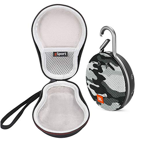 JBL Clip 3 IPX7 Waterproof Portable Bluetooth Speaker Bundle with gSport Deluxe Travel Case (Black Camo)