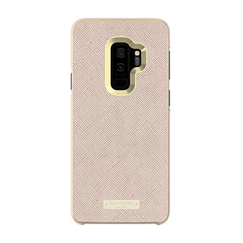 kate Spade New York Schutzhülle für Samsung Galaxy S9+, Roségold, Saffiano Roségold/Gold-Logo