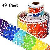 49 Pies Bordes de Tablero de Anuncios Borde Temática de Confeti Arcoiris Pegatinas Decorativas Temáticas de Escuela para Exhibición Aula Escolar