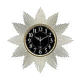 WANGXINQUAN Moderna sala de estar luz de lujo decoración del hogar reloj de arte nórdico 72 x 72 cm