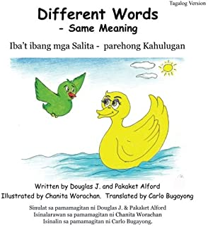 Different Words  - Same Meaning Tagalog Verion (Tagalog Edition)