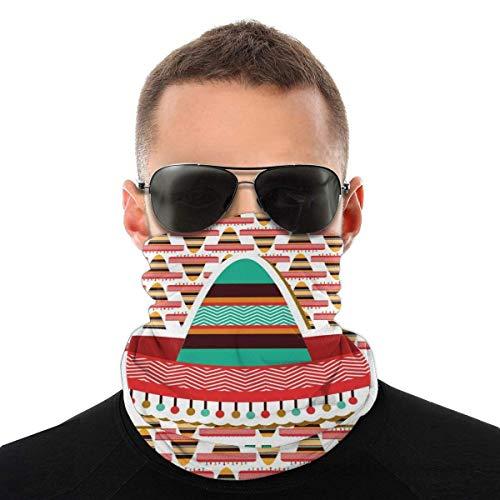 Lsjuee Half Bandanas Variedad Pauelo para la cabeza Cuello Clido Pauelo de polaina Diseo de Mxico Sombrero tnico cultural Disfraz Elementos tradicionales Variedad Pauelo para la cabeza