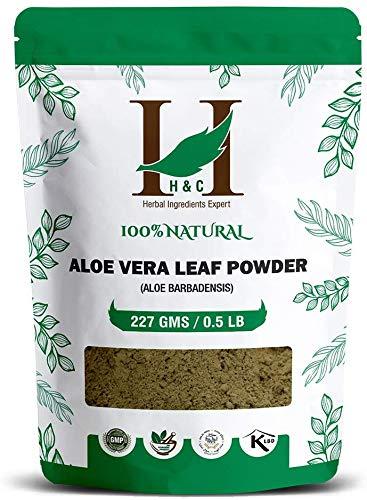 H&C 100% Natural Aloe Vera Leaf (Aloe Barbadensis) Powder - 227g / 0.5 LB / 08