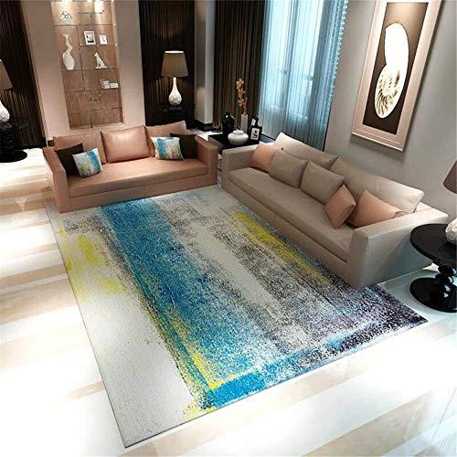 DHHY Polyester Teppich Flanell Moderne Minimalistische Saugfähige Antirutschmatte Home Schlafzimmer Wohnzimmer Teppich