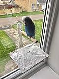 Sitzstange für Wellensittiche, Nymphensittiche, Papageien etc. Vogelsitzstange für Fenster, Naturholz