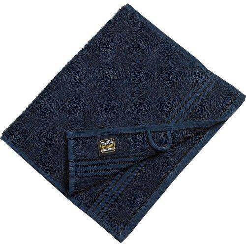 Myrtle Beach - lot 3 serviettes de toilette invité - bleu marine - 30 x 50 cm - MB420