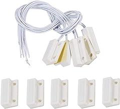 Sensores de Puerta y Ventana, 5pcs MC-38 Empotrado Puerta de la Ventana Sensor de Ventana Interruptor magnético Sistema de Alarma para el hogar