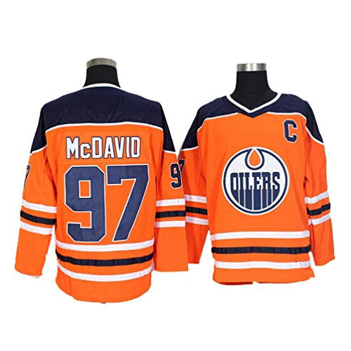 Herren Sweatshirts Eishockey Trikots atmungsaktiv T-Shirt McDavid # 97 E.O,S