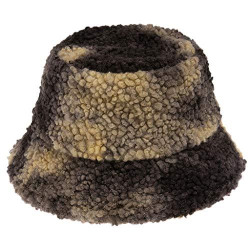 Lowral Fischerhut für den Winter, warm, flauschig, Plüsch, unisex, bunt, Batik-Druck