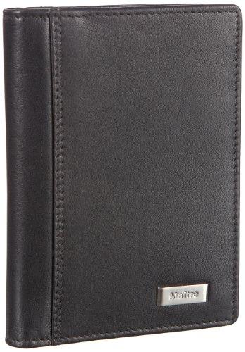 Maitre Fusto Ausweisetui 06/10/11749, Damen Portemonnaies, Schwarz (schwarz 1), 9x13x2 cm (B x H x T)
