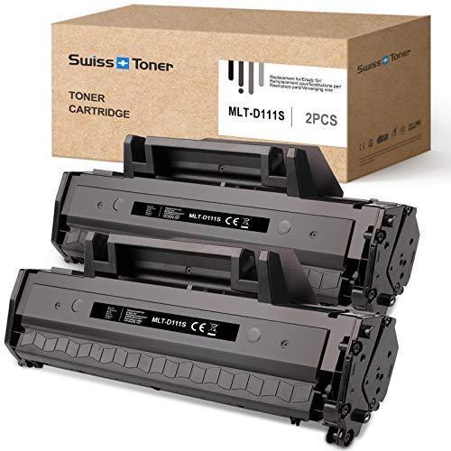 SWISS TONER 2 Nero MLT-D111S  1000 Pagine  Cartucce toner Compatibile per Samsung MLT-D111S MLTD111S per Samsung Xpress SL-M2070W M2026W M2070 M2026 M2070FW M2020 M2022W M2020W M2022 Stampante