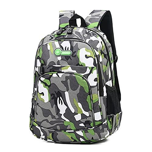 LERDBT Mochila escolar impermeable de camuflaje, mochila escolar de camuflaje para niños y niñas