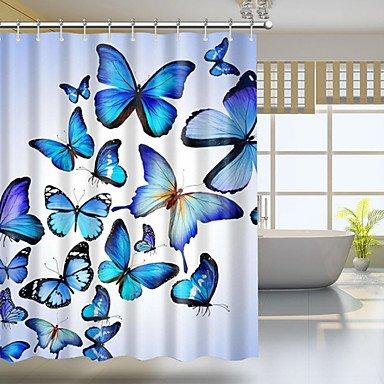 Xie (@ Tapis de bain mousse à mémoire de forme Motif rayures 16 x 24 en bleu, Beige, Marron, W20 \