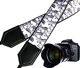 InTePro Giraffe Camera Strap. Black and White Animal Camera Strap. Grey DSLR/SLR Camera Strap. Durable, Light Weight and Well Padded Camera Strap.