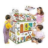 Lebeaut DIY Große Pappe Färbung Kreatives Handwerk Spielhaus Projekt Montieren und Malen...