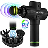 [Upgraded 2020] Massage Gun, Deep Tissue Percussion Muscle Massager for Athletes, Professional Cordless Handled Quiet Massage Device for Pain Relief & Muscle Soreness