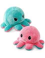 CawBing CawBing Cute Octopus Plush Doll Reversible Lovely Octopus Stuffed Double Sided Flip Octopus Plush Toy Stuffed Animal Doll Creative Toys Show Your Mood With Emotions For Kids Boys Girls
